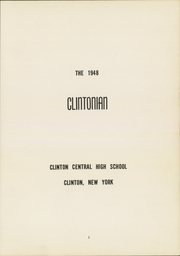 Page 5, 1948 Edition, Clinton Central High School - Clintonian Yearbook (Clinton, NY) online yearbook collection
