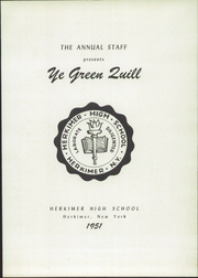 Page 7, 1951 Edition, Herkimer High School - Ye Green Quill Yearbook (Herkimer, NY) online yearbook collection
