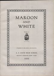 Page 7, 1933 Edition, A B Davis High School - Maroon and White Yearbook (Mount Vernon, NY) online yearbook collection
