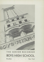 Page 5, 1946 Edition, Boys High School - Red and Black Yearbook (Brooklyn, NY) online yearbook collection