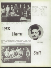 Page 8, 1958 Edition, Liberty High School - Libertas Yearbook (Liberty, NY) online yearbook collection