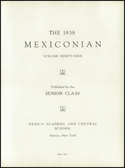 Page 5, 1938 Edition, Mexico Central High School - Mexiconian Yearbook (Mexico, NY) online yearbook collection