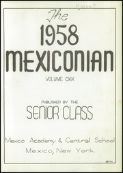 Page 3, 1958 Edition, Mexico Central High School - Mexiconian Yearbook (Mexico, NY) online yearbook collection