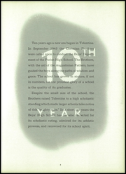 Page 9, 1955 Edition, St Nicholas of Tolentine High School - Tolentia Yearbook (Bronx, NY) online yearbook collection