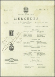 Page 3, 1947 Edition, Our Lady of Mercy High School - Mercedes Yearbook (Rochester, NY) online yearbook collection