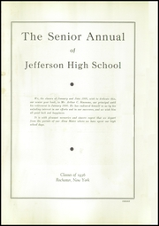 Page 7, 1936 Edition, Jefferson High School - Statesman Yearbook (Rochester, NY) online yearbook collection