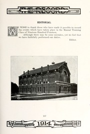 Page 171, 1914 Edition, Valparaiso University - Record Yearbook (Valparaiso, IN) online yearbook collection