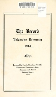 Page 5, 1914 Edition, Valparaiso University - Record Yearbook (Valparaiso, IN) online yearbook collection