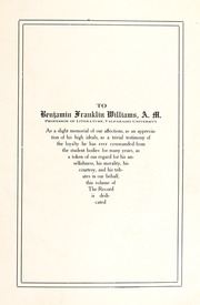 Page 9, 1914 Edition, Valparaiso University - Record Yearbook (Valparaiso, IN) online yearbook collection