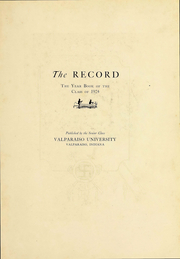 Page 4, 1924 Edition, Valparaiso University - Record Yearbook (Valparaiso, IN) online yearbook collection