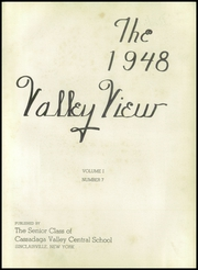 Page 7, 1948 Edition, Cassadaga Valley High School - Valley View Yearbook (Sinclairville, NY) online yearbook collection
