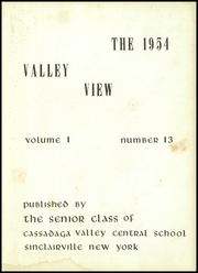 Page 7, 1954 Edition, Cassadaga Valley High School - Valley View Yearbook (Sinclairville, NY) online yearbook collection