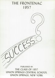 Page 5, 1957 Edition, Union Springs Central High School - Frontenac Yearbook (Union Springs, NY) online yearbook collection
