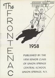 Page 5, 1958 Edition, Union Springs Central High School - Frontenac Yearbook (Union Springs, NY) online yearbook collection