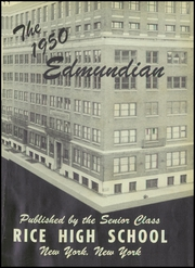Page 5, 1950 Edition, Rice High School - Edmundian Yearbook (New York, NY) online yearbook collection
