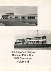 Page 5, 1971 Edition, St Lawrence Central High School - Centralian Yearbook (Brasher Falls, NY) online yearbook collection