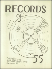 Page 5, 1955 Edition, Alexander High School - Record Yearbook (Alexander, NY) online yearbook collection