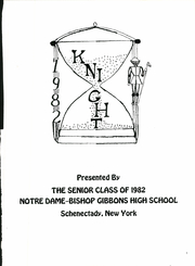 Page 5, 1982 Edition, Notre Dame Bishop Gibbons High School - Knight Yearbook (Schenectady, NY) online yearbook collection