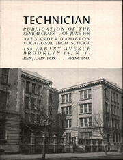Page 3, 1946 Edition, Alexander Hamilton Vocational High School - Technician Yearbook (Brooklyn, NY) online yearbook collection