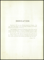 Page 7, 1944 Edition, Randolph Central School - Hilltop Yearbook (Randolph, NY) online yearbook collection