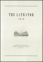 Page 5, 1940 Edition, Barker Central High School - Latrator Yearbook (Barker, NY) online yearbook collection