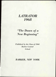 Page 7, 1968 Edition, Barker Central High School - Latrator Yearbook (Barker, NY) online yearbook collection
