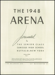 Page 7, 1948 Edition, Canisius High School - Arena Yearbook (Buffalo, NY) online yearbook collection
