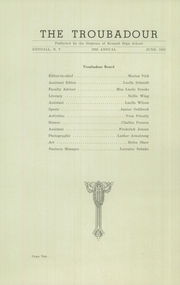 Page 12, 1935 Edition, Kendall High School - Troubadour Yearbook (Kendall, NY) online yearbook collection