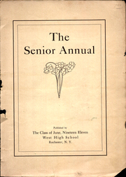 Page 1, 1912 Edition, West Rochester High School - W Yearbook (Rochester, NY) online yearbook collection