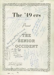 Page 5, 1949 Edition, West Rochester High School - W Yearbook (Rochester, NY) online yearbook collection