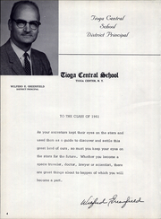 Page 8, 1961 Edition, Tioga Central High School - Tiogan Yearbook (Tioga Center, NY) online yearbook collection