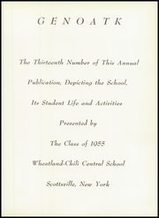 Page 5, 1955 Edition, Wheatland Chili Central School - Genoatk Yearbook (Scottsville, NY) online yearbook collection