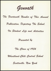 Page 5, 1956 Edition, Wheatland Chili Central School - Genoatk Yearbook (Scottsville, NY) online yearbook collection