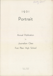 Page 3, 1951 Edition, Fort Plain High School - Portrait Yearbook (Fort Plain, NY) online yearbook collection