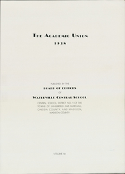 Page 3, 1938 Edition, Waterville Central High School - Academic Union Yearbook (Waterville, NY) online yearbook collection