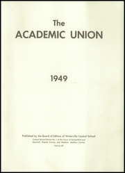 Page 3, 1949 Edition, Waterville Central High School - Academic Union Yearbook (Waterville, NY) online yearbook collection
