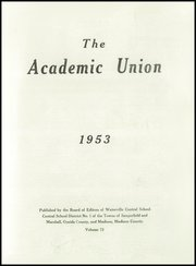 Page 3, 1953 Edition, Waterville Central High School - Academic Union Yearbook (Waterville, NY) online yearbook collection