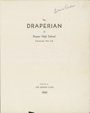 Page 3, 1940 Edition, Draper High School - Draperian Yearbook (Schenectady, NY) online yearbook collection