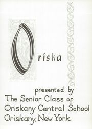 Page 5, 1959 Edition, Oriskany High School - Oriska Yearbook (Oriskany, NY) online yearbook collection