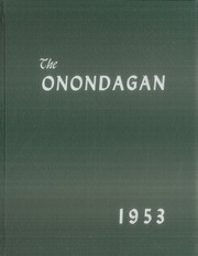 Page 1, 1953 Edition, Onondaga Central School - Onondagan Yearbook (Nedrow, NY) online yearbook collection