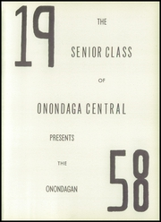 Page 5, 1958 Edition, Onondaga Central School - Onondagan Yearbook (Nedrow, NY) online yearbook collection