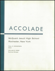 Page 7, 1959 Edition, McQuaid Jesuit High School - Accolade Yearbook (Rochester, NY) online yearbook collection