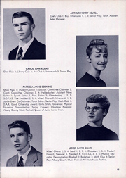 Page 17, 1959 Edition, Clayton A Bouton High School - Torch Yearbook (Voorheesville, NY) online yearbook collection
