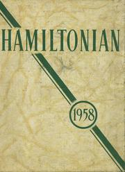 1958 Edition, Hamilton Central High School - Hamiltonian Yearbook (Hamilton, NY)