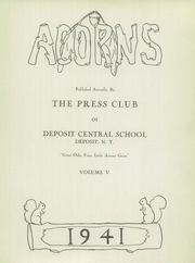 Page 3, 1941 Edition, Deposit Central High School - Acorns Yearbook (Deposit, NY) online yearbook collection