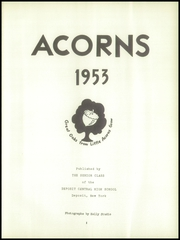 Page 5, 1953 Edition, Deposit Central High School - Acorns Yearbook (Deposit, NY) online yearbook collection