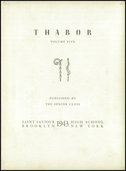 Page 7, 1943 Edition, St Saviour High School - Thabor Yearbook (Brooklyn, NY) online yearbook collection