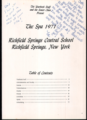 Page 5, 1971 Edition, Richfield Springs High School - Spa Yearbook (Richfield Springs, NY) online yearbook collection