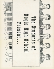 Page 5, 1962 Edition, Regis High School - Regian Yearbook (New York, NY) online yearbook collection