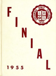 Columbia Bible College - Finial Yearbook (Columbia, SC) online yearbook collection, 1955 Edition, Page 1